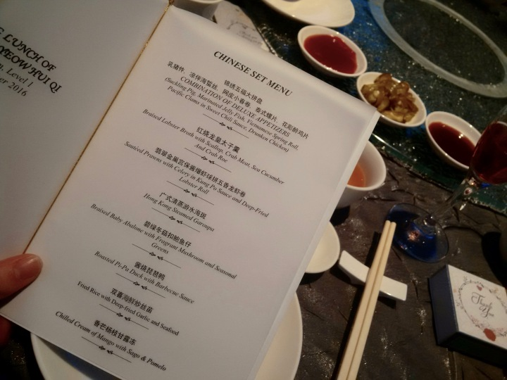 8 course chinese banquet