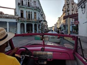 classic car havana cuba pink